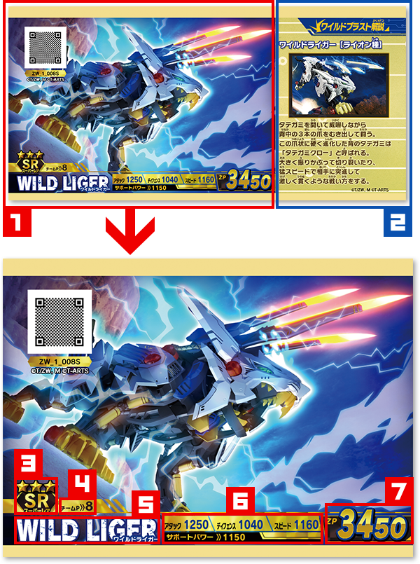 メインカード メインカードには「ゾイドカード」「バトル支援カード」の2種類あるぞ!